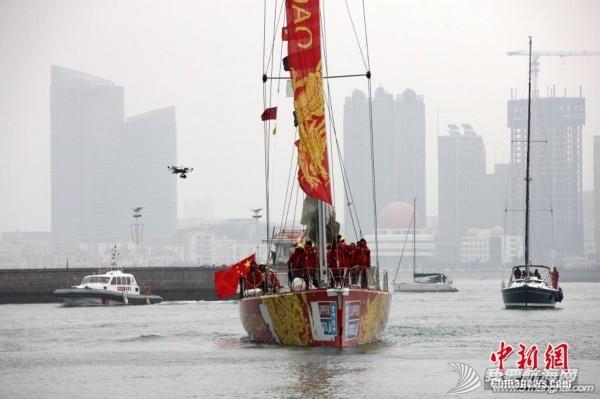 """中国,青岛 克利伯环球帆船赛中国""""青岛号""""回家 1298673750537031428.jpg"""
