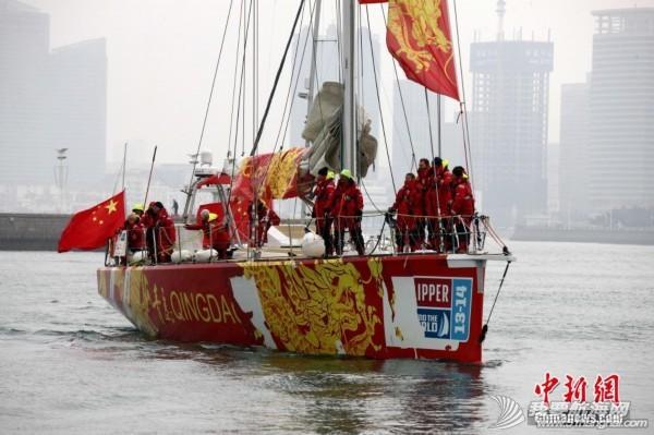 """中国,青岛 克利伯环球帆船赛中国""""青岛号""""回家 8934335995636269045.jpg"""