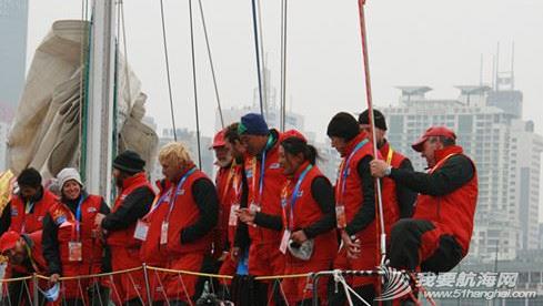 """克利伯环球帆船赛,青岛号,奥帆中心,宋坤 3月12日,克利伯环球帆船赛""""青岛号""""以第七名的成绩完成了第五段的赛程抵达青岛。 1.png"""