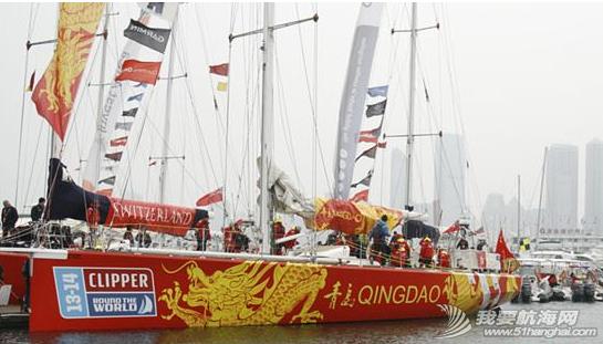 """克利伯环球帆船赛,青岛号,奥帆中心,宋坤 3月12日,克利伯环球帆船赛""""青岛号""""以第七名的成绩完成了第五段的赛程抵达青岛。 2.png"""