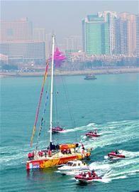 旧金山,帆船 克利伯大帆船16日离青第六赛段驶向旧金山 B0239A109126BFCDF8D822960B700F51.jpg