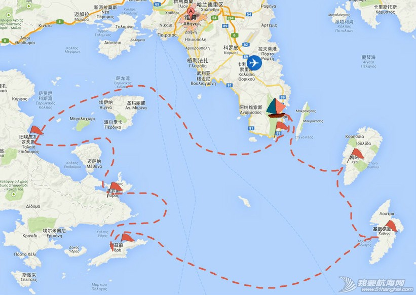 希腊爱琴海,2014,帆船,自驾 2014海上自驾第一站——希腊爱琴海浪漫帆船游 Map_meitu_1.jpg