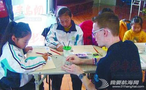 奥帆中心,青年团,青岛,英国,帆船 青岛部分学生来到奥帆中心,在自英国的海事青年团的指导下学会了多种绳结的系法。 7.png