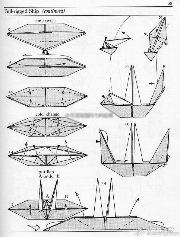 立体帆船 会折纸不?今天我们来试试折艘立体帆船吧! 2.png