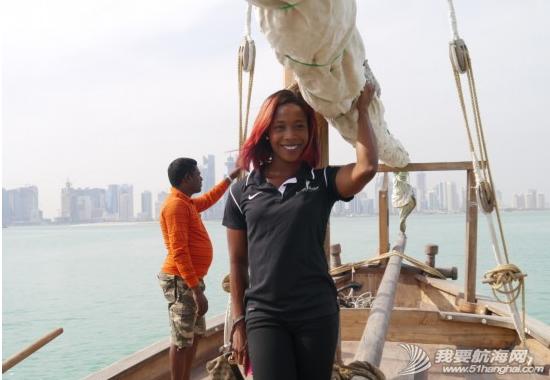 2014,国际田联,卡塔尔,多哈,帆船 5月7日国际田联钻石联赛选手登上了古老的卡塔尔式单桅三角帆船体验多哈风情。 6.png