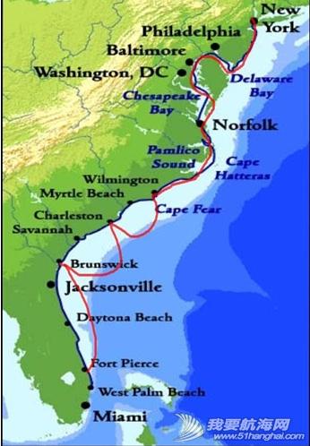东海岸,佛罗里达,大西洋,加拿大,马里兰 回到美国已经是10月下旬,全程将近两千海里,陆地一个多月。---《大西洋航游760天》 2.png