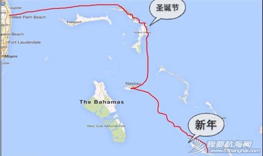 """蒙特利尔,避风港,心脏病,巴哈马,罗德岛 """"同道者""""2006年12月16日抵达巴哈马的阿巴可。---《大西洋航游760天》 19.png"""