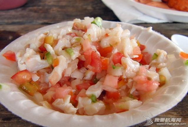 新英格兰,巴哈马,穿透力,珊瑚礁,橡皮筋 美食系列三--巴哈马海鲜,巴哈马真正名副其实的美食是海螺。---《大西洋航游760天》 4.png