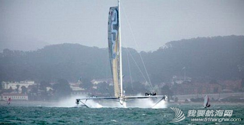 """帆船秀,Hydroptere帆船 帆船秀---法国游艇驾驶员设计一款""""Hydroptere帆船""""被称为世界上最快的船艇 1.png"""