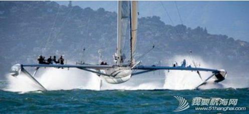 """帆船秀,Hydroptere帆船 帆船秀---法国游艇驾驶员设计一款""""Hydroptere帆船""""被称为世界上最快的船艇 2.png"""