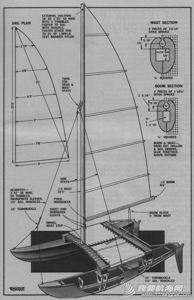 皮划艇,图片,帆船,技术 技术图片--三体皮划艇帆船 双体帆船