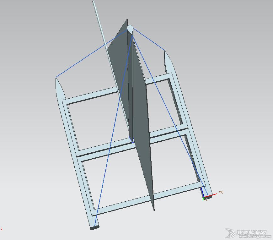 帆船 自制双体小帆船