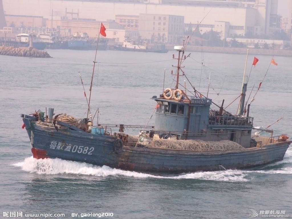 帆船 自制双体小帆船 山东青岛的大渔船