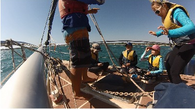 巧克力,小朋友,小孩子,小家伙,人贩子 今天第一期帆船班来参观我家的船,教练Tom 让小朋友们自己驾帆船过来。 40.png