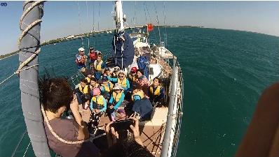 巧克力,小朋友,小孩子,小家伙,人贩子 今天第一期帆船班来参观我家的船,教练Tom 让小朋友们自己驾帆船过来。 42.png