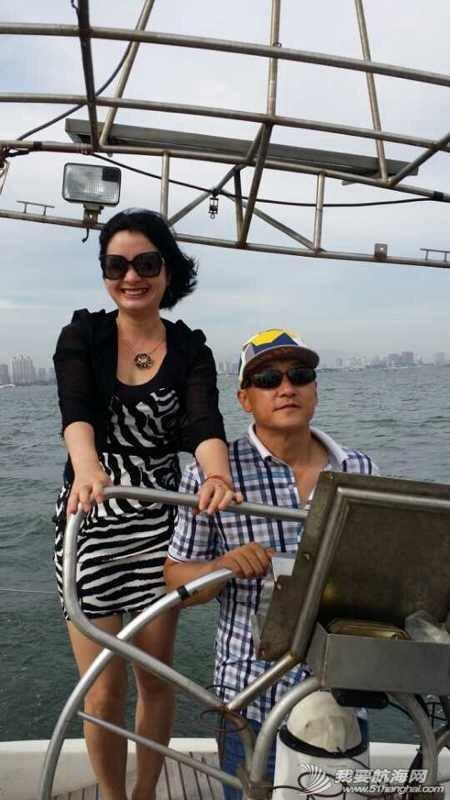 2014秦皇岛号帆船首航试帆,今天风和日丽,蓝天白云滴还不晒。 162927yct3h3cofp7zoljj.jpg