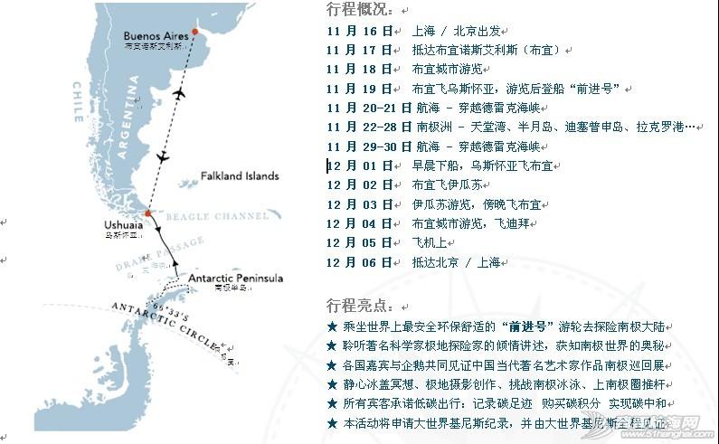 南极低碳之旅[北京] 行程