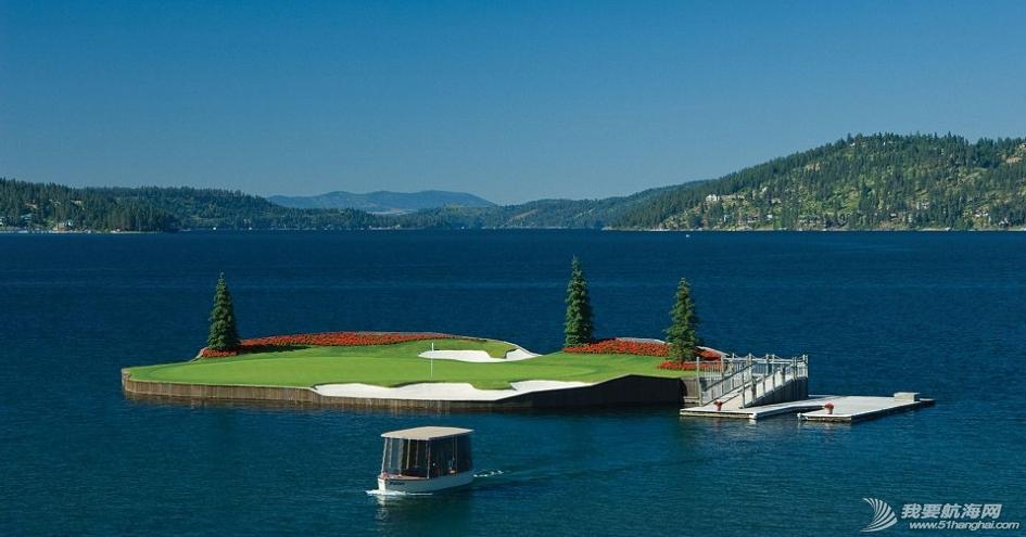 世界上唯一一座漂浮在水面上,可以移动的高尔夫球场---科达伦湖高尔夫球场. 32.png
