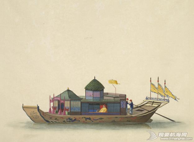 """中国船 英国伦敦维多利亚与阿尔伯特博物馆(V&A)收藏的通草画""""中国船"""" 22.png"""