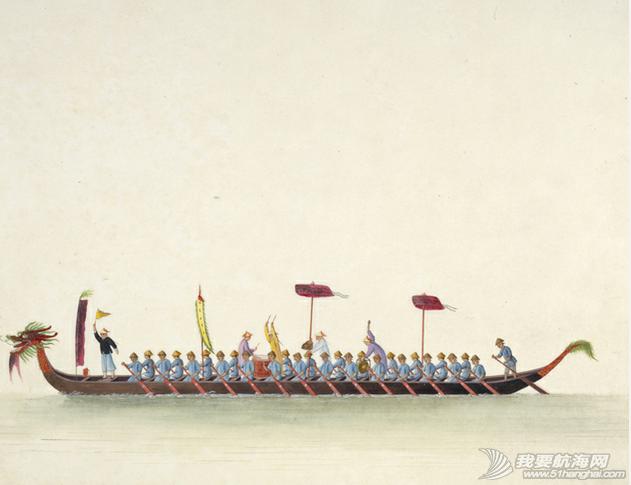 """中国船 英国伦敦维多利亚与阿尔伯特博物馆(V&A)收藏的通草画""""中国船"""" 21.png"""