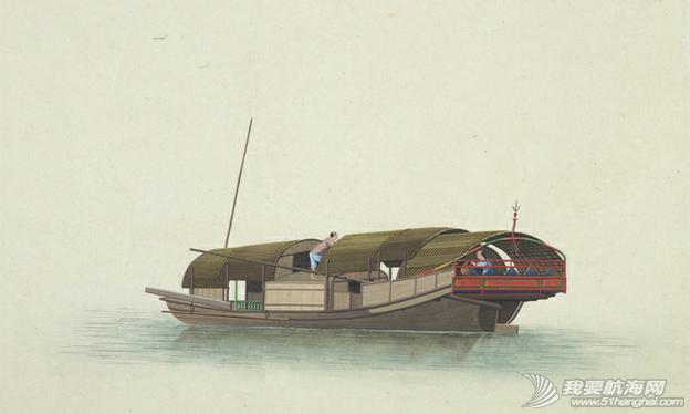 """中国船 英国伦敦维多利亚与阿尔伯特博物馆(V&A)收藏的通草画""""中国船"""" 20.png"""