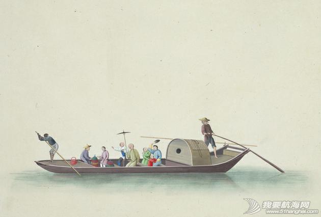 """中国船 英国伦敦维多利亚与阿尔伯特博物馆(V&A)收藏的通草画""""中国船"""" 18.png"""