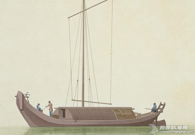 """中国船 英国伦敦维多利亚与阿尔伯特博物馆(V&A)收藏的通草画""""中国船"""" 16.png"""