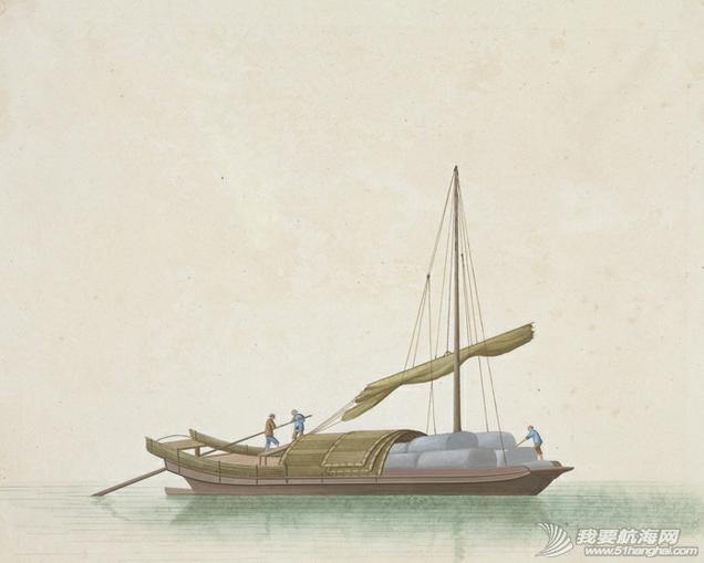 """中国船 英国伦敦维多利亚与阿尔伯特博物馆(V&A)收藏的通草画""""中国船"""" 17.png"""