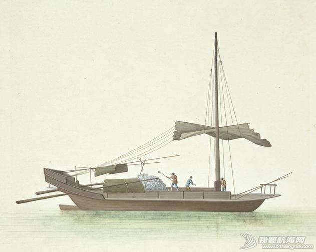 """中国船 英国伦敦维多利亚与阿尔伯特博物馆(V&A)收藏的通草画""""中国船"""" 15.png"""