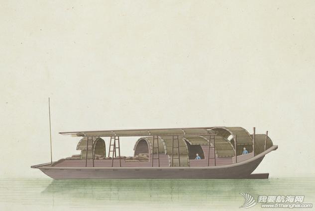 """中国船 英国伦敦维多利亚与阿尔伯特博物馆(V&A)收藏的通草画""""中国船"""" 14.png"""