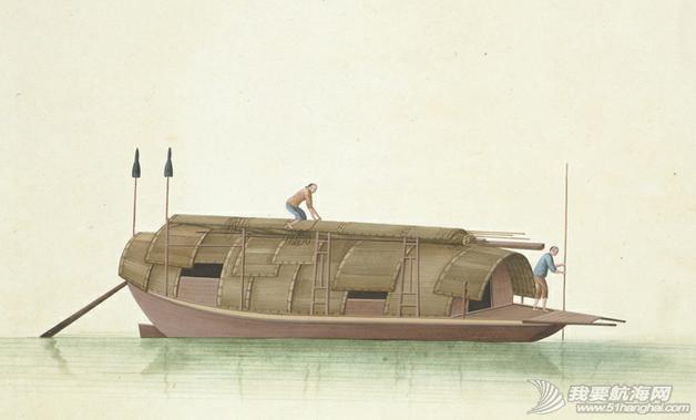 """中国船 英国伦敦维多利亚与阿尔伯特博物馆(V&A)收藏的通草画""""中国船"""" 13.png"""