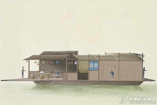 """中国船 英国伦敦维多利亚与阿尔伯特博物馆(V&A)收藏的通草画""""中国船"""" 9.png"""