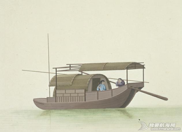 """中国船 英国伦敦维多利亚与阿尔伯特博物馆(V&A)收藏的通草画""""中国船"""" 6.png"""