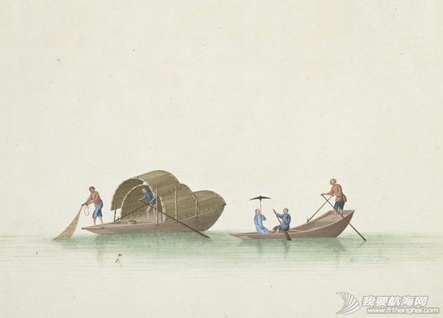 """中国船 英国伦敦维多利亚与阿尔伯特博物馆(V&A)收藏的通草画""""中国船"""" 5.png"""