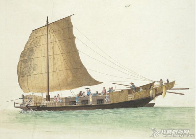 """中国船 英国伦敦维多利亚与阿尔伯特博物馆(V&A)收藏的通草画""""中国船"""" 2.png"""