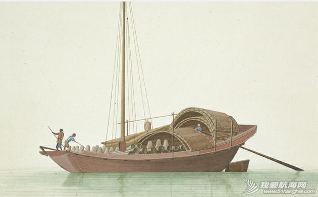 """中国船 英国伦敦维多利亚与阿尔伯特博物馆(V&A)收藏的通草画""""中国船"""" 1.png"""