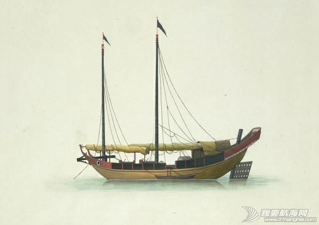 """中国船 英国伦敦维多利亚与阿尔伯特博物馆(V&A)收藏的通草画""""中国船"""" 12.png"""