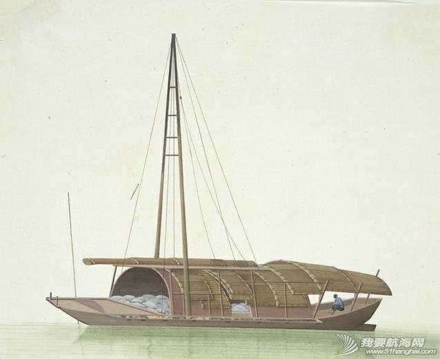 """中国船 英国伦敦维多利亚与阿尔伯特博物馆(V&A)收藏的通草画""""中国船"""" 4.png"""