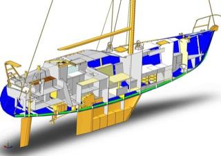 帆船,金属,资料 介绍一款国外DIY金属帆船的资料 s_ALUMAR_44_vB_section.jpg