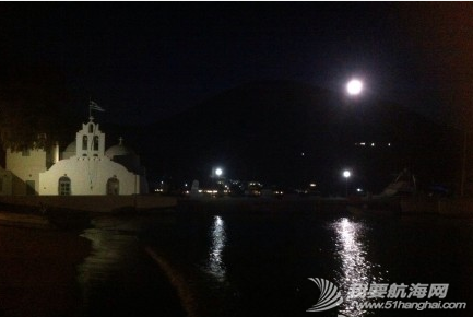 爱琴海,船头作诗 父亲在船头作诗---《夜泊爱琴海船头赏月》 37.png