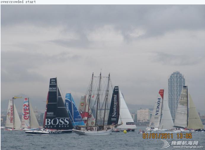 巴塞罗那,西班牙文,工作人员,生活方式,法国人 巴塞罗那环球帆船赛起航---在Port velle 上媒体船Karya出海观看起航仪式 13.png