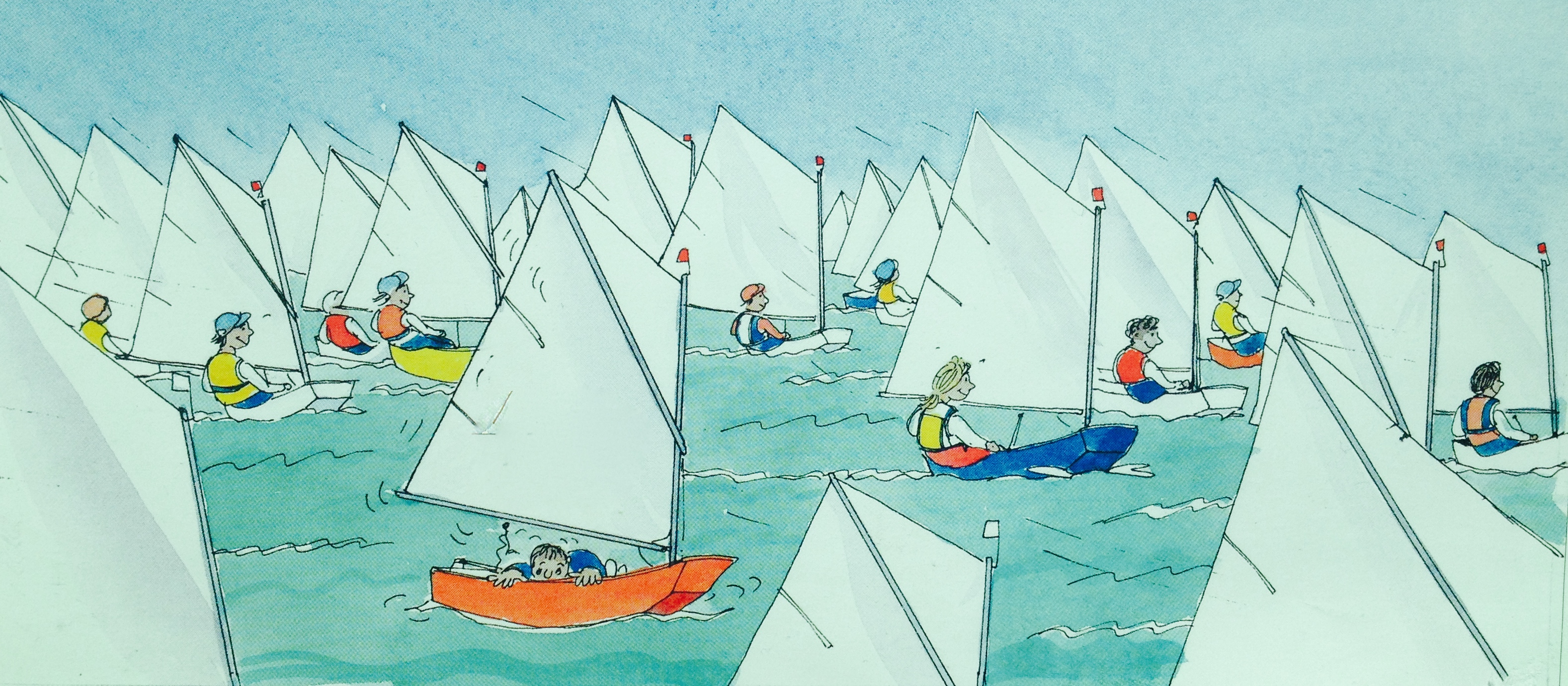 技术学,帆船,竞技,双人艇 建议大家先从双人艇开始,这样就可以分工从简单的技术学起来。 2e.jpg