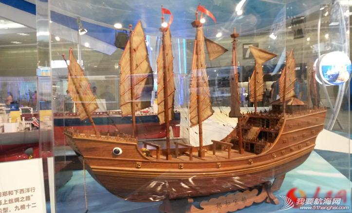 """帆船,主力船型 600年前郑和下西洋行驶在""""海上丝绸之路""""的主力船型,九桅十二帆船。 1.png"""