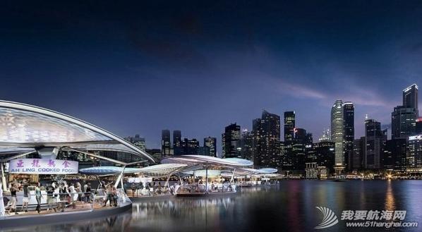 新加坡创意改造海滨区 海上建太阳能流动餐厅 5.png