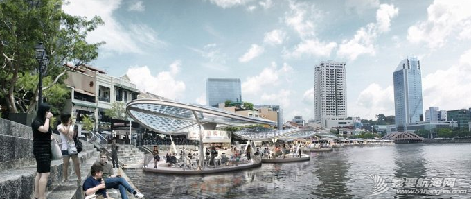 新加坡创意改造海滨区 海上建太阳能流动餐厅 6.png