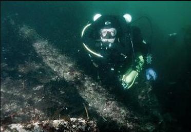 潜水,私人,阿拉斯加,美联社,安克雷奇 美国海底发现最早沉船残骸 24.png