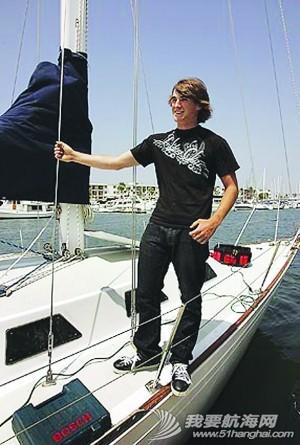 环游世界,洛杉矶,墨西哥,驾驶员,劳伦斯 美16岁少年孤帆游环球 计划18岁前完成壮举 3.jpg