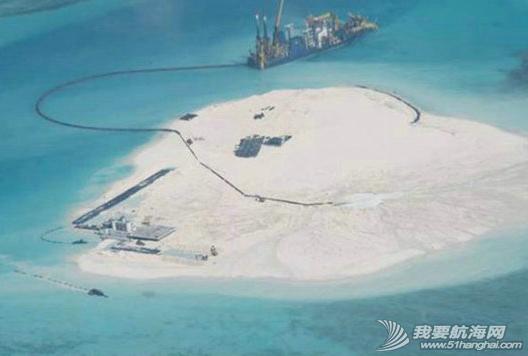 中国南海岛礁,施工新图 中国南海岛礁施工新图,很酷似目前在赤瓜礁进行的填海工程。 6.png