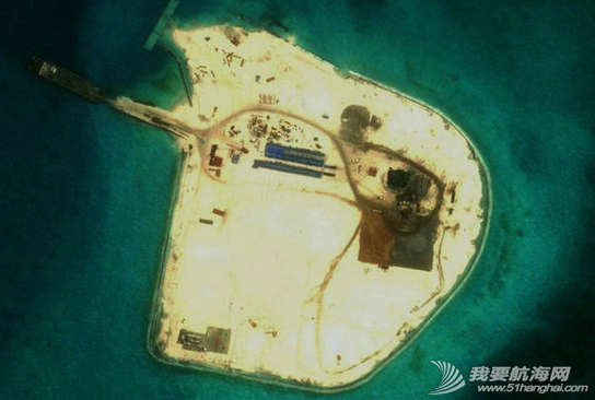 中国南海岛礁,施工新图 中国南海岛礁施工新图,很酷似目前在赤瓜礁进行的填海工程。 4.png