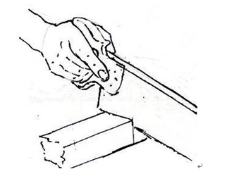 木工,长方形,切割,而且,耳朵 木船DIY要点3.6.2锯的使用---怎样用手锯切割直线以及拐角 1.png